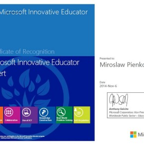 Microsoft Innovative Educator Expert Program 2015