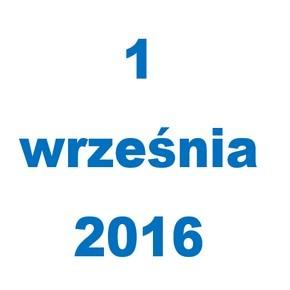 Rozpoczęcie roku szkolnego 2016/2017 - dnia 1 września 2016 r.